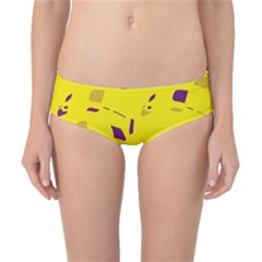 Yellow and purple pattern Classic Bikini Bottoms