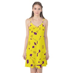 Yellow and purple pattern Camis Nightgown