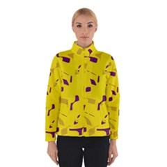 Yellow And Purple Pattern Winterwear