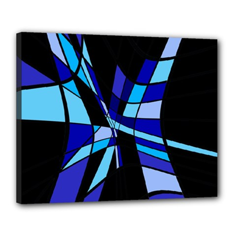 Blue abstart design Canvas 20  x 16