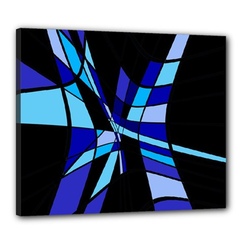 Blue abstart design Canvas 24  x 20