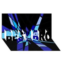 Blue abstart design BEST BRO 3D Greeting Card (8x4)