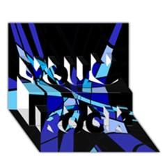 Blue abstart design You Rock 3D Greeting Card (7x5)