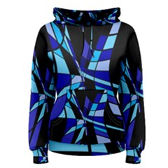 Blue abstart design Women s Pullover Hoodie