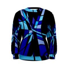 Blue abstart design Women s Sweatshirt