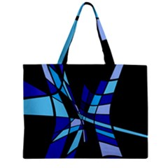 Blue abstart design Zipper Mini Tote Bag