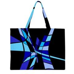 Blue abstart design Large Tote Bag