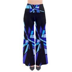 Blue Abstart Design Pants