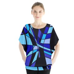Blue abstart design Blouse