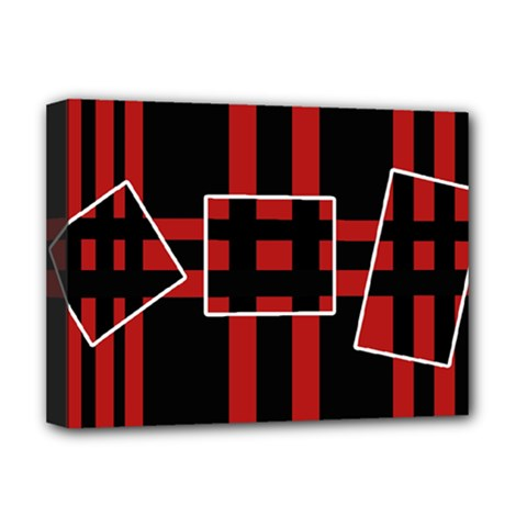 Red and black geometric pattern Deluxe Canvas 16  x 12