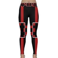 Red and black geometric pattern Yoga Leggings