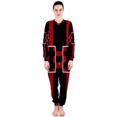 Red and black geometric pattern OnePiece Jumpsuit (Ladies)