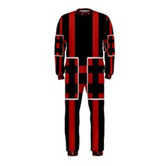 Red and black geometric pattern OnePiece Jumpsuit (Kids)