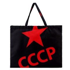 Russia Zipper Large Tote Bag