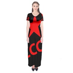 Russia Short Sleeve Maxi Dress