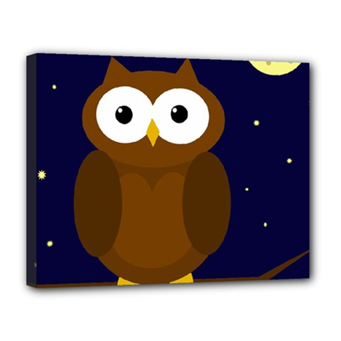 Cute owl Canvas 14  x 11