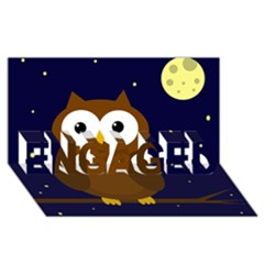 Cute owl ENGAGED 3D Greeting Card (8x4)