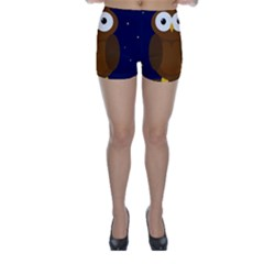 Cute owl Skinny Shorts