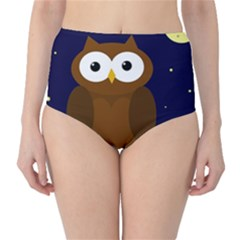 Cute owl High-Waist Bikini Bottoms