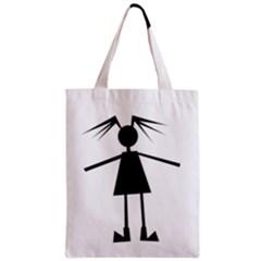 Teenage girl Zipper Classic Tote Bag