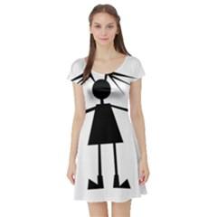 Teenage girl Short Sleeve Skater Dress