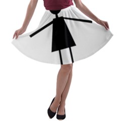 Teenage girl A-line Skater Skirt