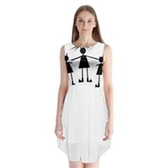 Teenage girl Sleeveless Chiffon Dress