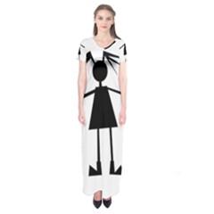 Teenage Girl Short Sleeve Maxi Dress