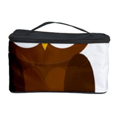 Cute transparent brown owl Cosmetic Storage Case
