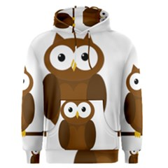 Cute transparent brown owl Men s Pullover Hoodie