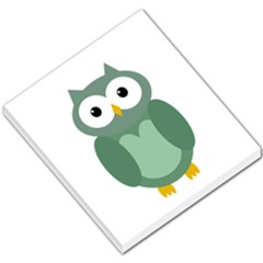 Green cute transparent owl Small Memo Pads