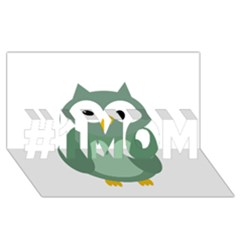 Green cute transparent owl #1 MOM 3D Greeting Cards (8x4)