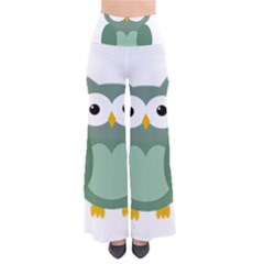 Green cute transparent owl Pants