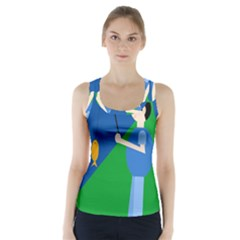 Fisherman Racer Back Sports Top