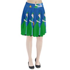 Fisherman Pleated Skirt