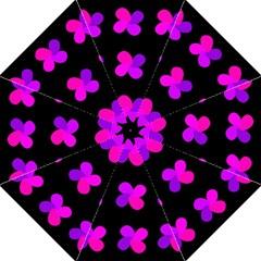 Purple flowers Hook Handle Umbrellas (Medium)