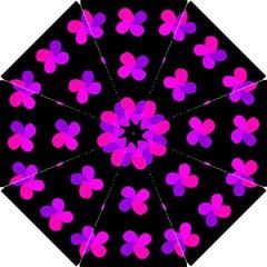 Purple flowers Hook Handle Umbrellas (Small)