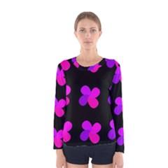 Purple flowers Women s Long Sleeve Tee