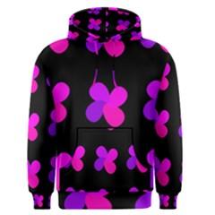 Purple flowers Men s Pullover Hoodie