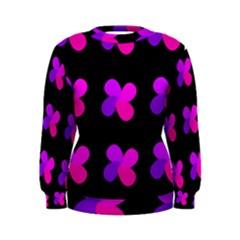 Purple flowers Women s Sweatshirt