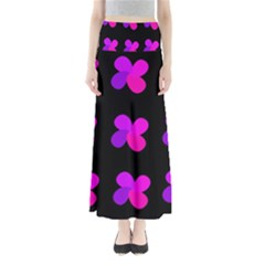 Purple flowers Maxi Skirts