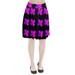 Purple flowers Pleated Skirt