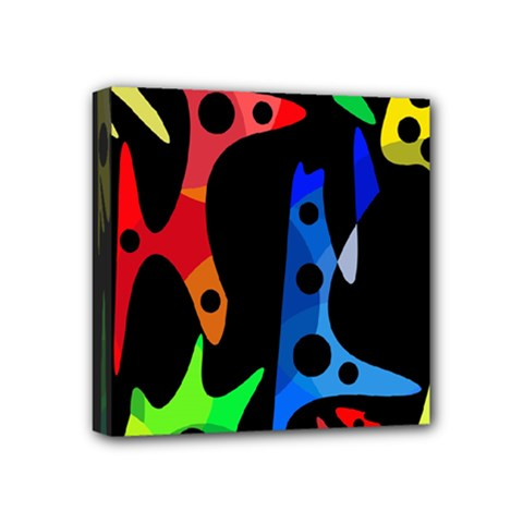 Colorful abstract pattern Mini Canvas 4  x 4