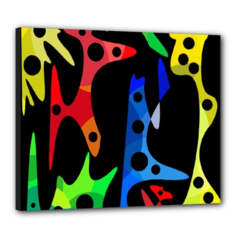 Colorful abstract pattern Canvas 24  x 20