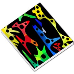 Colorful abstract pattern Small Memo Pads