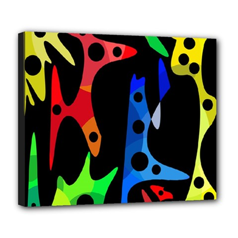 Colorful abstract pattern Deluxe Canvas 24  x 20