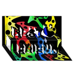 Colorful abstract pattern Best Friends 3D Greeting Card (8x4)