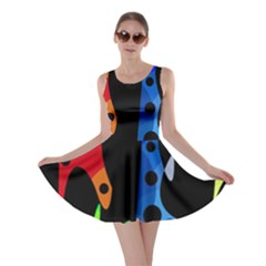 Colorful abstract pattern Skater Dress