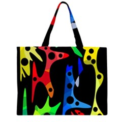 Colorful abstract pattern Large Tote Bag