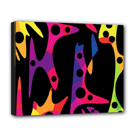 Colorful pattern Deluxe Canvas 20  x 16